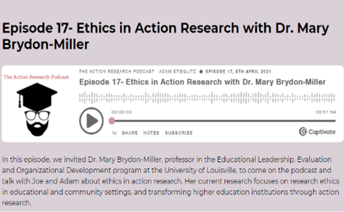 Ethics in Action Research: AR Podcast Episode 17
